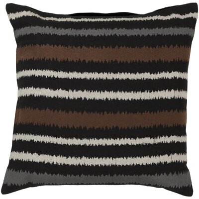 Vertical Stripes Linen Throw Pillow Size: 18 H x 18 W x 4 D, Color: Caviar/Papyrus/Robins Egg Blue/Flint Gray, Filler: Polyester