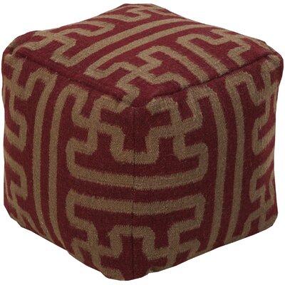 Copeland Pouf Ottoman Upholstery: Burgundy/Chocolate