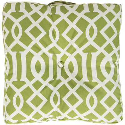 Winslow White Juxtaposed Outdoor Pillow Cover Color: Lime
