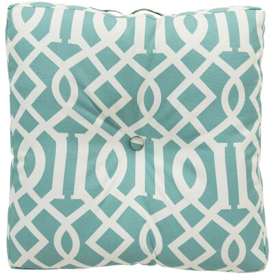Winslow White Juxtaposed Outdoor Pillow Cover Color: Teal
