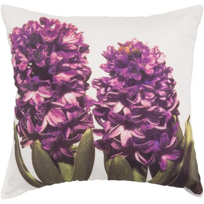 Reeves Hint of Hyacinths Throw Pillow Fill Material: Down