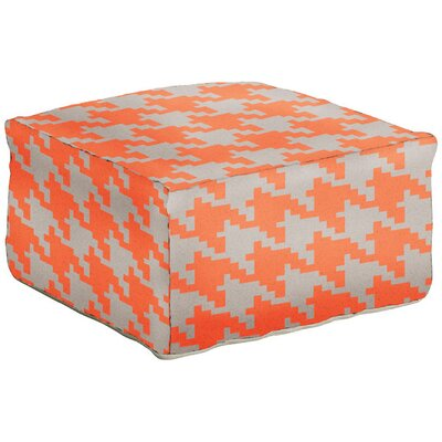 Ashley Pouf Ottoman Upholstery: Cantaloupe