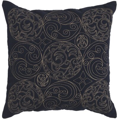 Circles of Scroll Cotton Throw Pillow Size: 22, Color: Ink/Parchment, Filler: Polyester