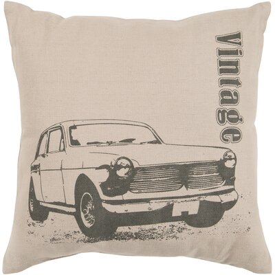 Oshanna Classic Car Cotton Throw Pillow Size: 22, Filler: Polyester