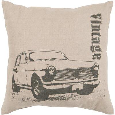 Oshanna Classic Car Cotton Throw Pillow Size: 22, Filler: Polyester
