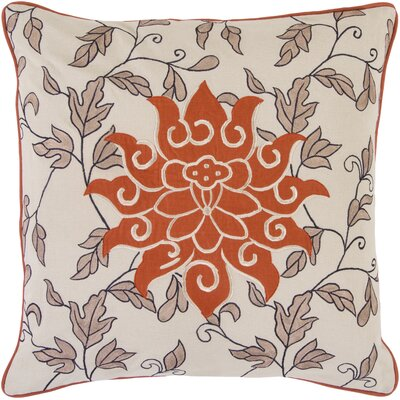 Sun and Leaves Cotton Throw Pillow Filler: Down