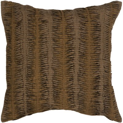 Clanton Throw Pillow Size: 18 H x 18 W, Color: Brown, Filler: Down