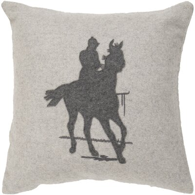 Caudill Take a Ride Throw Pillow Size: 18, Fill Material: Down