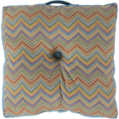 Chevron Outdoor Floor Pillow Color: Cobalt, Size: 22 H x 22 W x 4 D