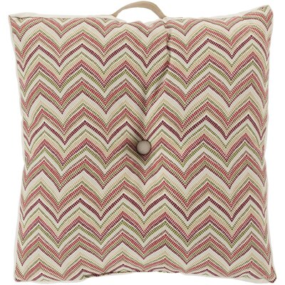 Charm in Chevron Outdoor Pillow Cover Color: Burgundy