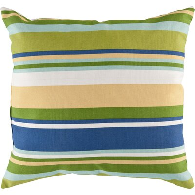 Lyra Outdoor Pillow Cover Size: 18 H x 18 W x 4 D, Color: Lime