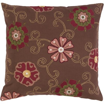 Fellers Fashionable Floral Cotton Throw Pillow Filler: Down