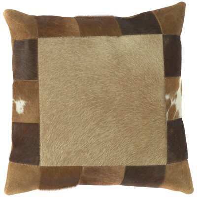 Caledon Hypnotizing Hide Leather Throw Pillow Filler: Down