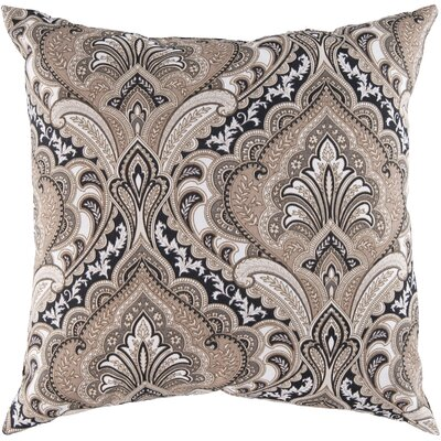 Distinguished Damask Outdoor Pillow Cover Color: Beige, Size: 22 H x 22 W x 4 D