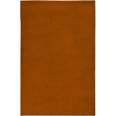 Huskins Orange Solid Area Rug Rug Size: Round 8