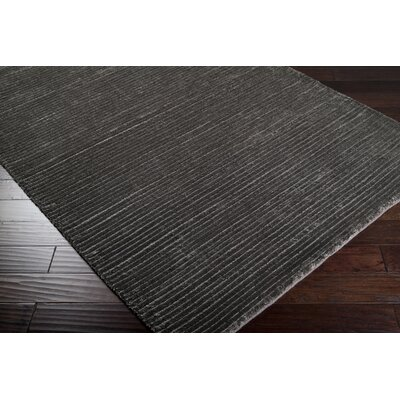 Ernestine Hand-Woven Gray Area Rug Rug Size: Rectangle 5 x 8