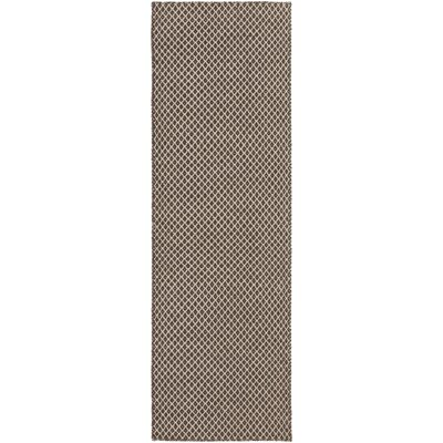 Walton Dark Brown/Oatmeal Rug Rug Size: Runner 26 x 8