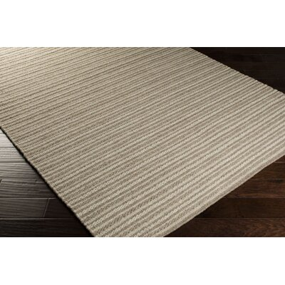 Cedar Oatmeal/Dark Taupe Striped Rug Rug Size: Rectangle 8 x 11