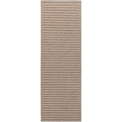Cedar Dark Taupe/Feather Gray Striped Rug Rug Size: Runner 26 x 8