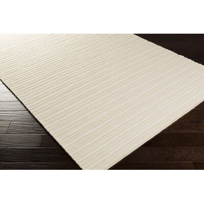 Ravena Winter White/Cream Striped Rug Rug Size: 5 x 8