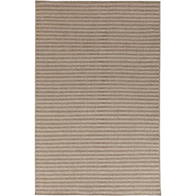 Cedar Dark Taupe/Feather Gray Striped Rug Rug Size: 5 x 8