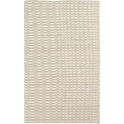 Walton Winter White/Desert Sand Striped Rug Rug Size: 3'3