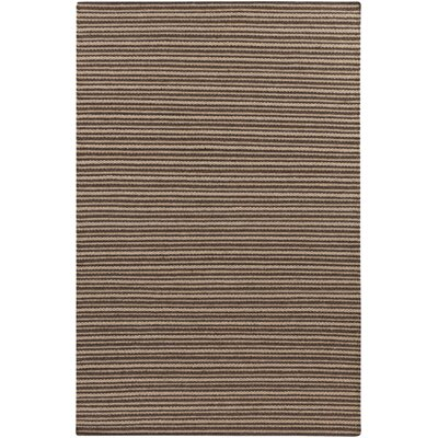 Ravena Espresso/Dark Taupe Striped Rug Rug Size: 8 x 11