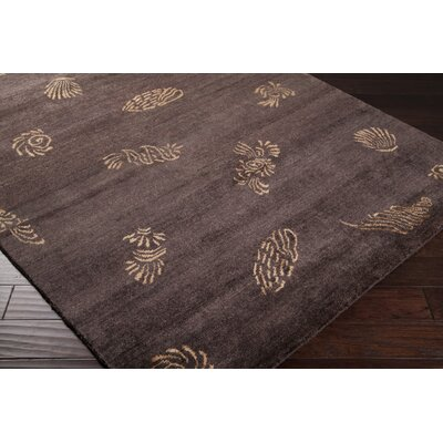 Howland Charcoal/Gold Area Rug Rug Size: Rectangle 9 x 13