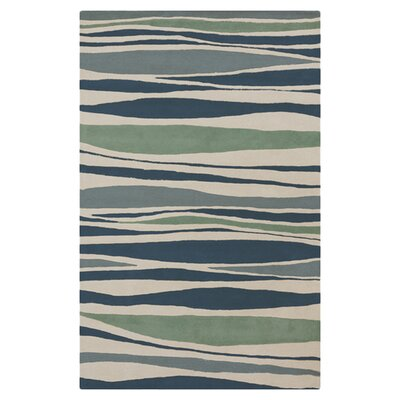 Brickyard Parchment/Pacific Blue Rug Rug Size: Rectangle 33 x 53