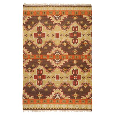 Wellsville Chocolate/Orange Rug Rug Size: Rectangle 8 x 11