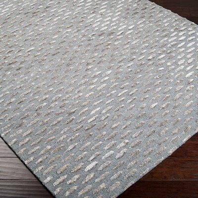 Bonner Gray & Silver Area Rug Rug Size: 2' x 3'