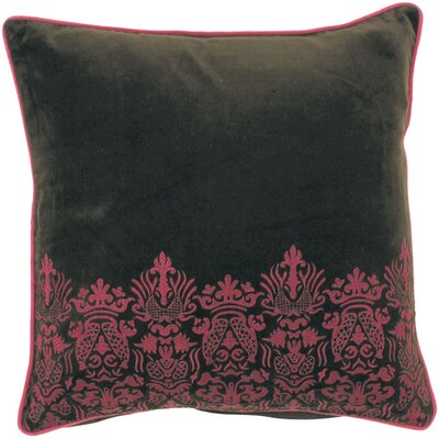 Adonay Smooth Suzani Cotton Throw Pillow Fill Material: Down
