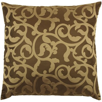 Secretariat Scroll Throw Pillow Color: Black/Gold, Fill Material: Down