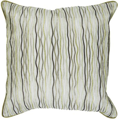 Demaris Stripe Cotton Throw Pillow Size: 22, Fill Material: Down