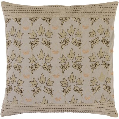 Roundtree Fall Leaves Cotton Throw Pillow Fill Material: Down