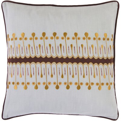 Makenzie Unique Charm Cotton Throw Pillow Fill Material: Down