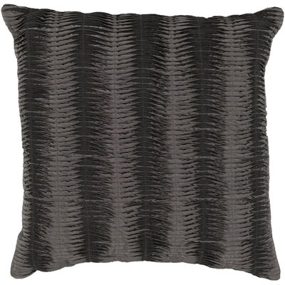 Clanton Throw Pillow Size: 18 H x 18 W, Color: Charcoal / Gray, Filler: Polyester