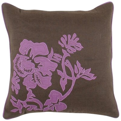 Mascotte Fringed in Floral Throw Pillow Fill Material: Down