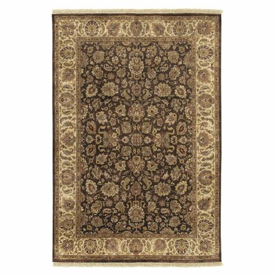 Attica Brown Floral Area Rug Rug Size: Rectangle 86 x 116