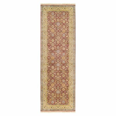 Attica Hand-Woven Wool Red Area Rug Rug Size: Runner 26 x 8