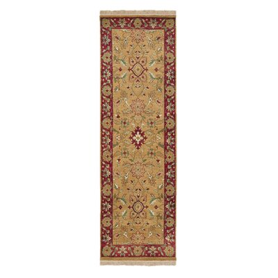 Atwater Gold Area Rug Rug Size: Runner 26 x 8