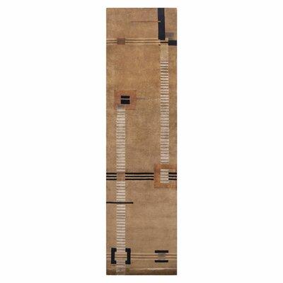 Mugal Caramel Striped Area Rug IN8035-2610