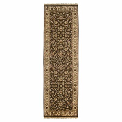 Attica Brown Floral Area Rug Rug Size: Runner 26 x 8