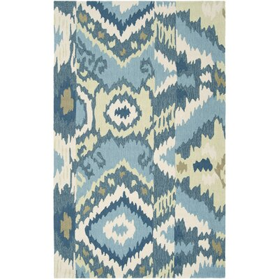 Maxfield Teal Blue Area Rug Rug Size: Runner 23 x 8