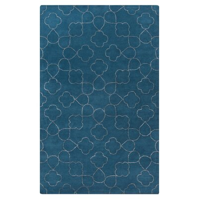 Jensen Hand-Tufted Marine Blue Area Rug Rug Size: Rectangle 8 x 11