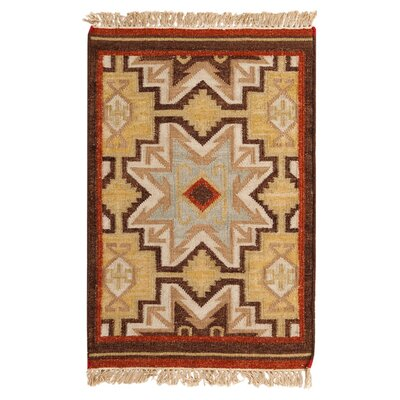 Wellsville Chocolate/Beige Rug Rug Size: Rectangle 36 x 56