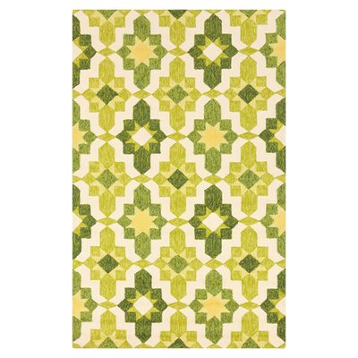 Waters Lime/Green Area Rug Rug Size: 2 x 3
