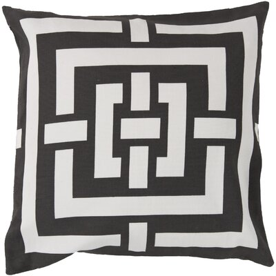 Busti Cotton Throw Pillow Color: Black, Filler: Polyester