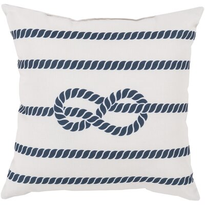 Brookhaven Knotted with Grace Throw Pillow Size: 18, Color: White