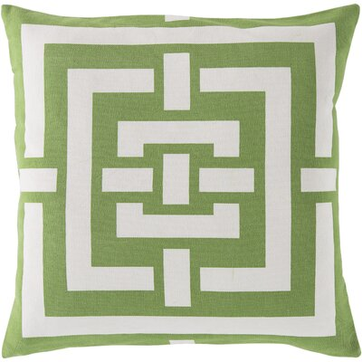 Busti Cotton Throw Pillow Color: Green, Filler: Polyester